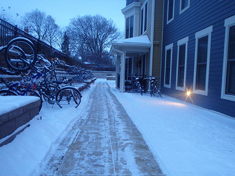 snow clearing apartment