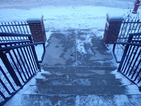 Ice cover stairs